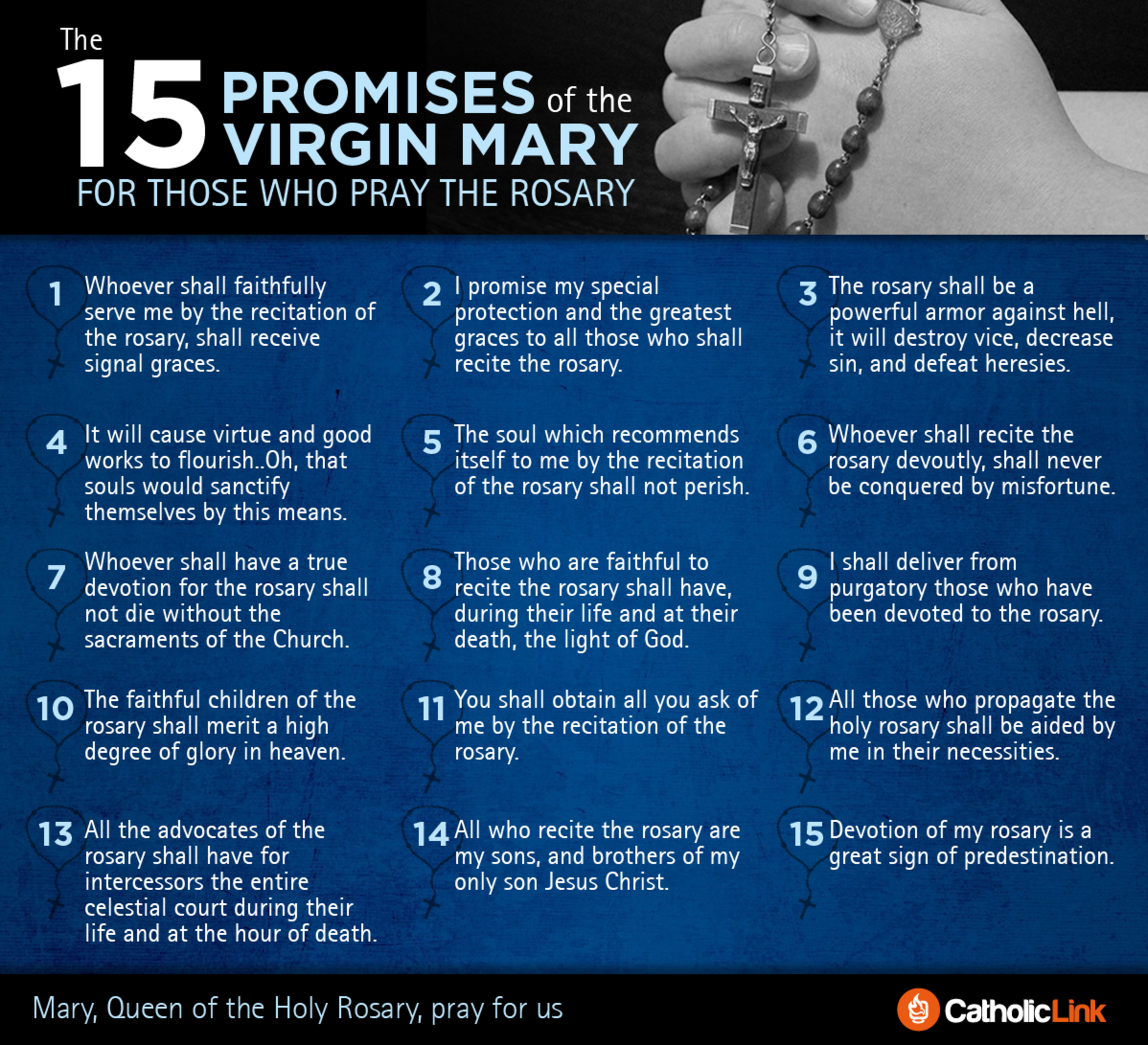15 Promises Of The Rosary