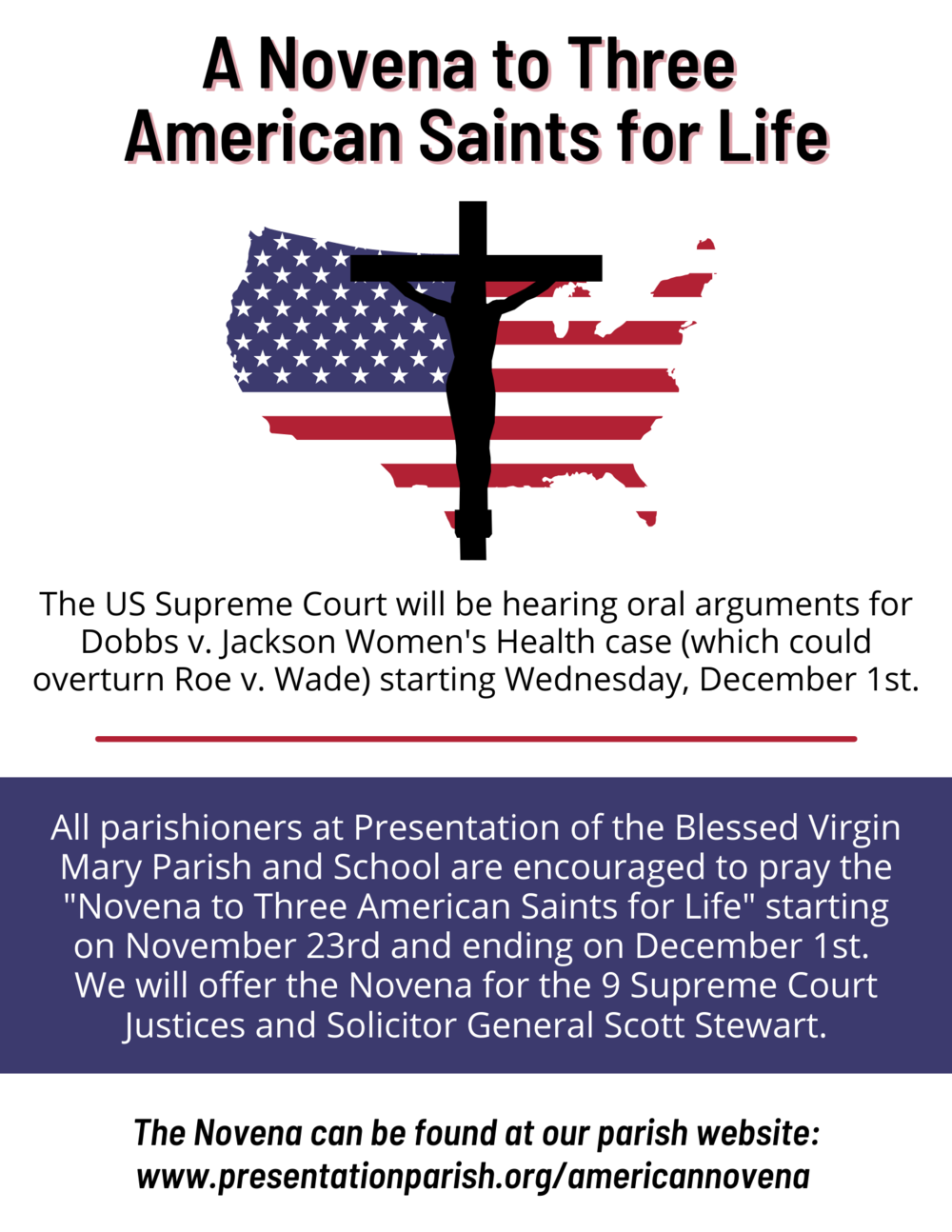 A Novena To Three American Saints For Life
