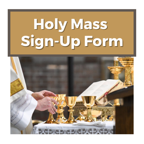 Holy Mass Sign Up Form 1