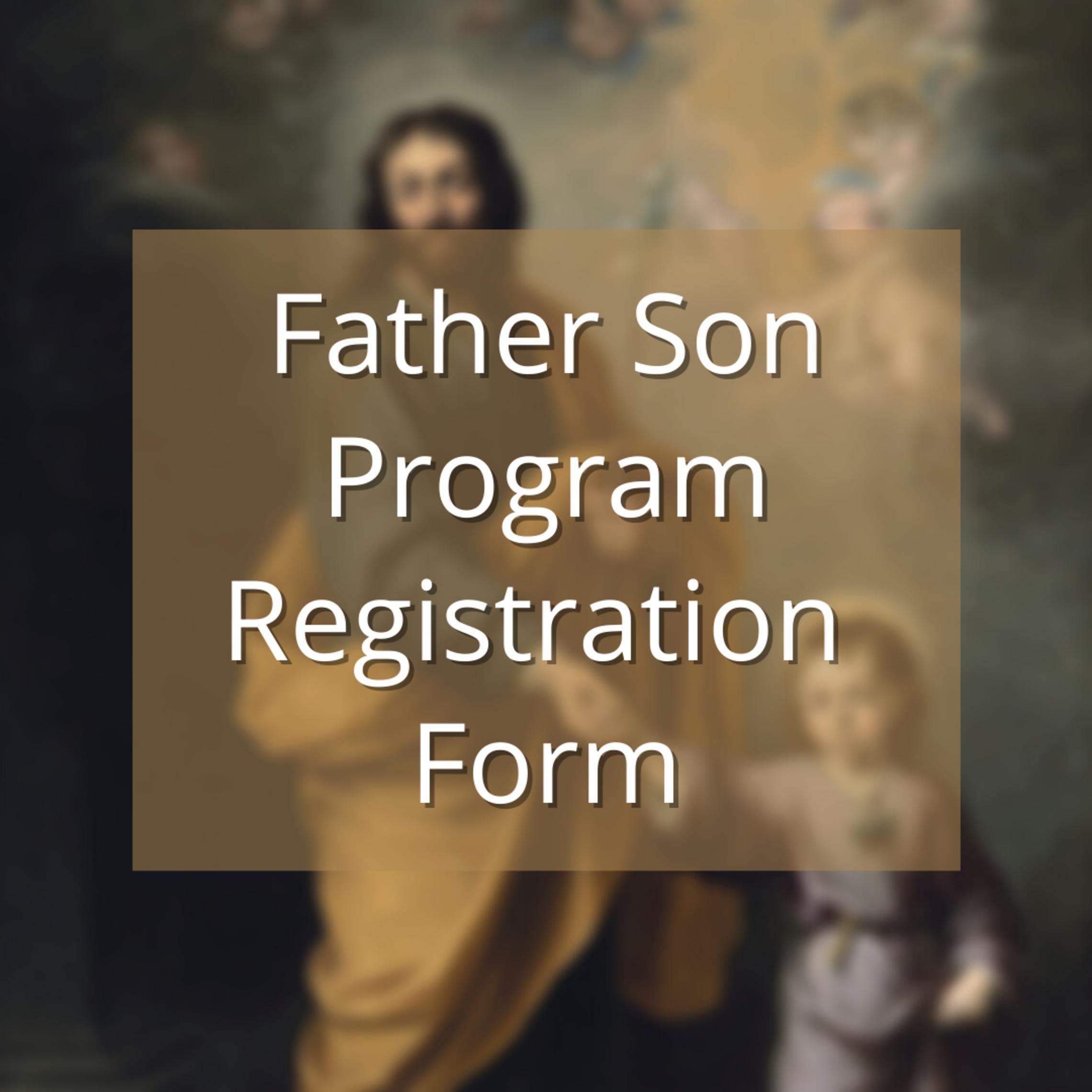 Father Son Program Registration Form